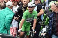 Mark Cavendish dans une combinaison verte