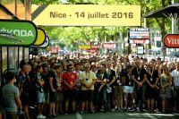 Une minute de silence est observé en hommage aux victimes des attentats de Nice