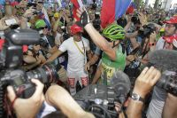 Peter Sagan célèbre sa victoire