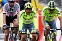 Alberto Contador concède du terrain à Cherbourg