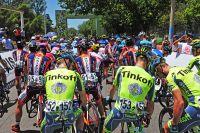 Le peloton au départ du Tour de San Luis