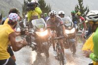 Tom Dumoulin sous le déluge à Arcalis