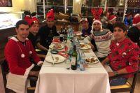 Repas de Noël pour les coureurs du Team Sky