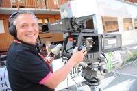 Les caméras de télévisions sont braquées sur la course !