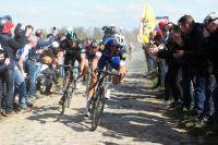 Tom Boonen à l'avant sur Paris-Roubaix