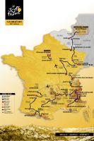 La carte du Tour de France 2017