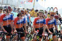 Van Vleuten tout sourire au départ des Jeux Olympiques