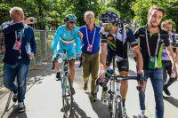 Vincenzo Nibali et Alejandro Valverde font le débriefe