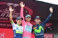Vincenzo Nibali, Esteban Chaves, Alejandro Valverde : le podium du Tour d'Italie