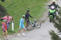 Vincenzo Nibali, victime d'un incident mécanique
