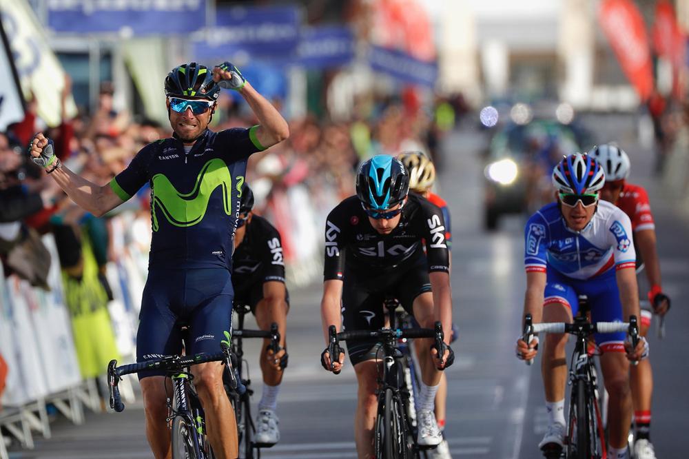 Alejandro Valverde règle le sprint des favoris à Grenade