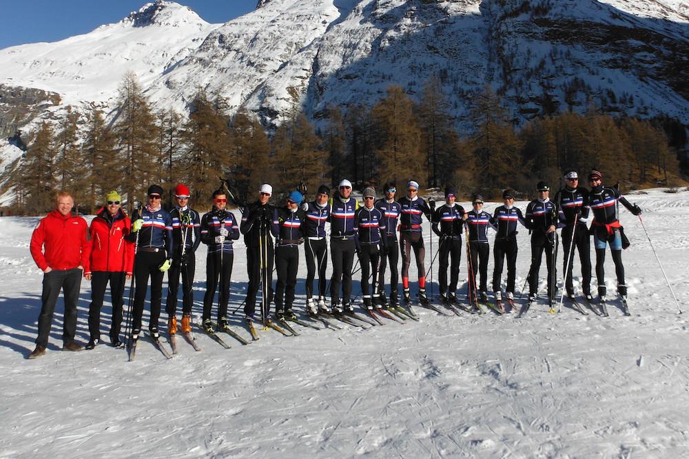 L'équipe de France se met au ski de fond