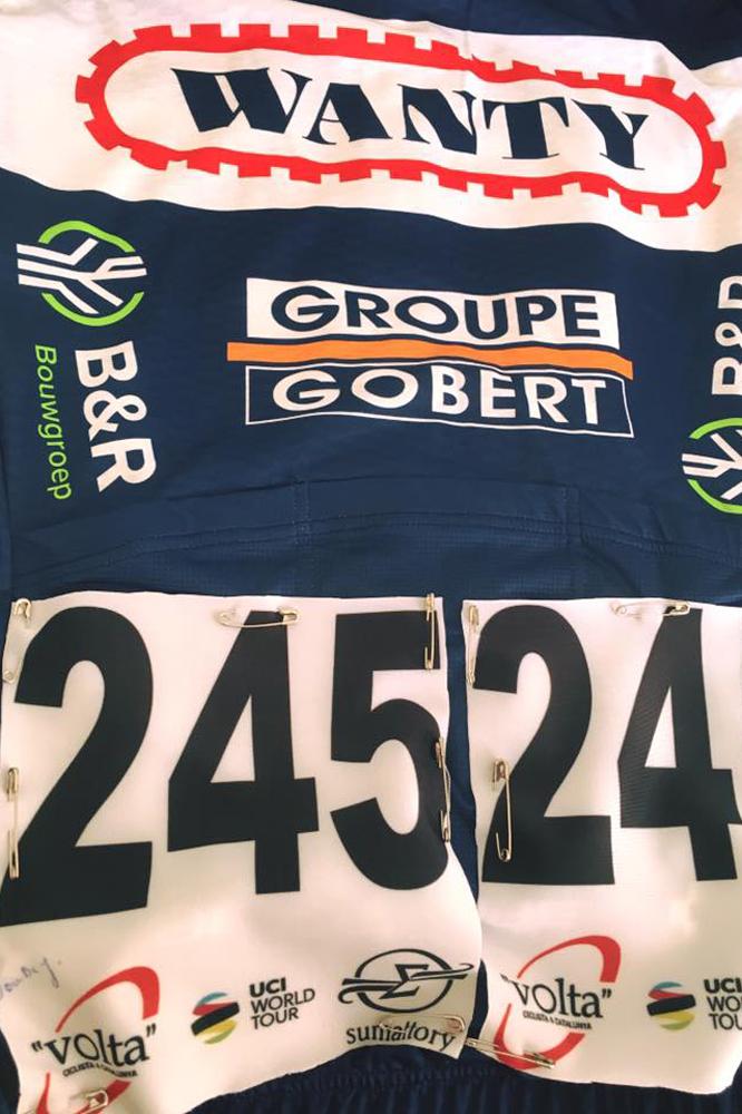 Le maillot de Fabien Doubey