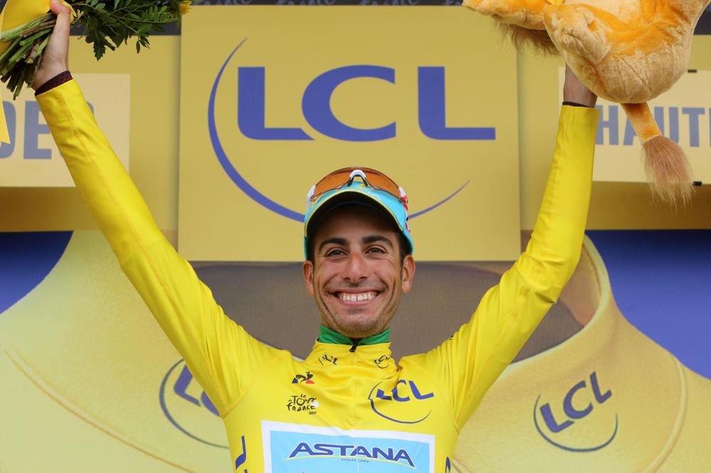 Fabio Aru en jaune