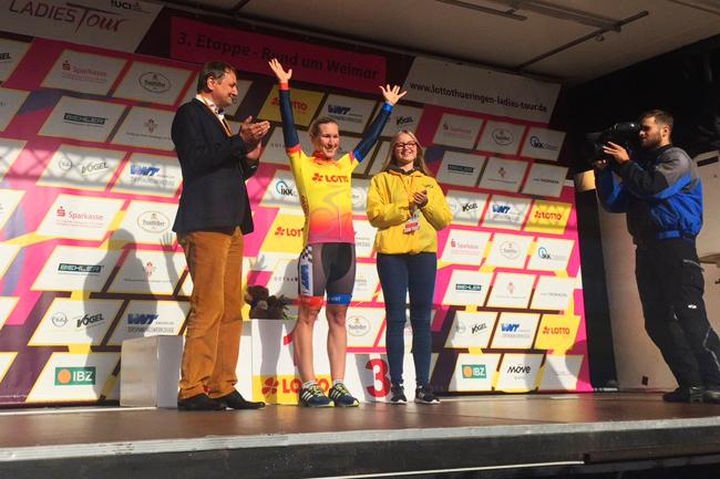 Hayley Simmonds leader du Tour de Thuringe 2017
