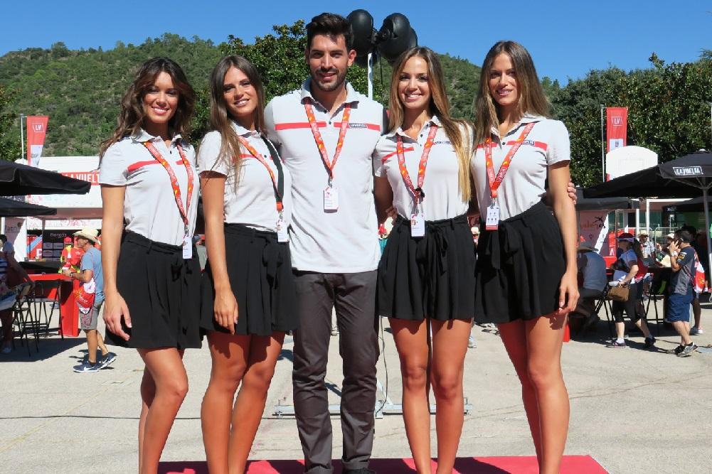 Hotesses-Hote podium Vuelta