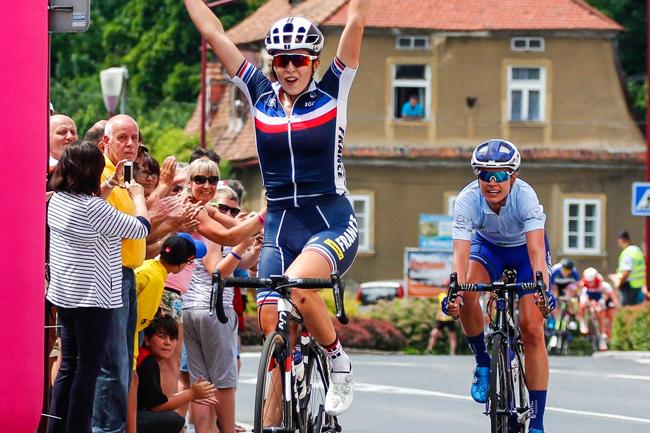 Juliette Labous vainqueur sur le Tour de Feminin 2017