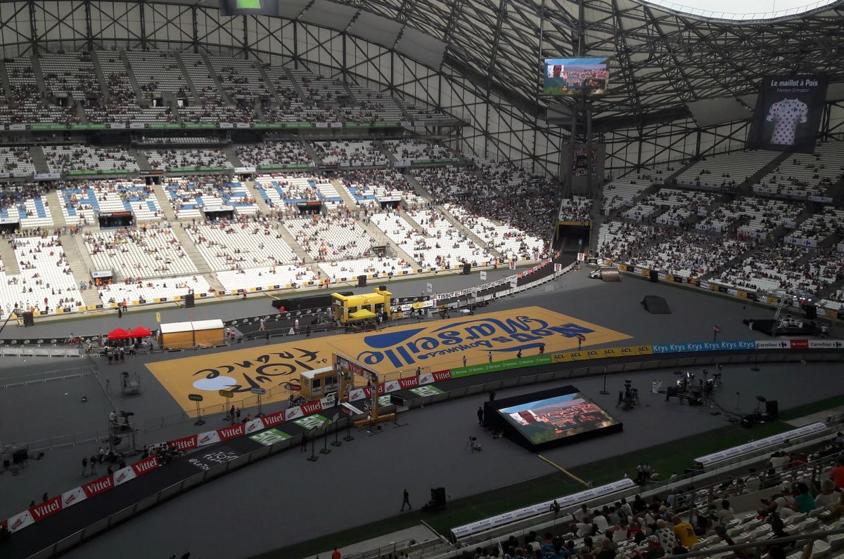 La Stade Vélodrome était bien vide lors du contre-la-montre du Tour