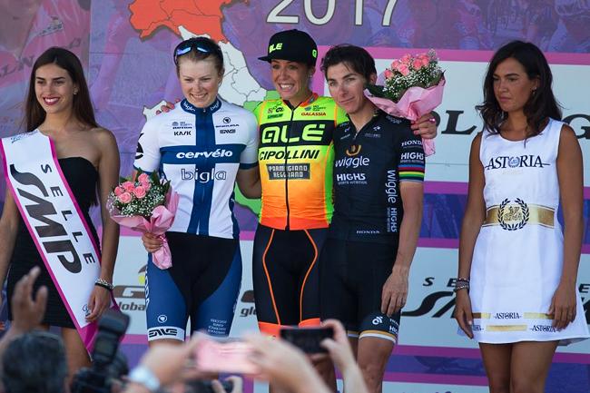 Le podium de la 9ème étape du Giro Rosa 2017