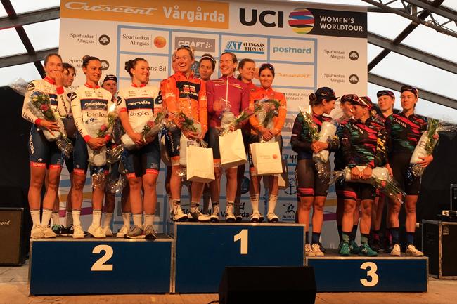 Le podium de la Crescent Vargarda TTT 2017