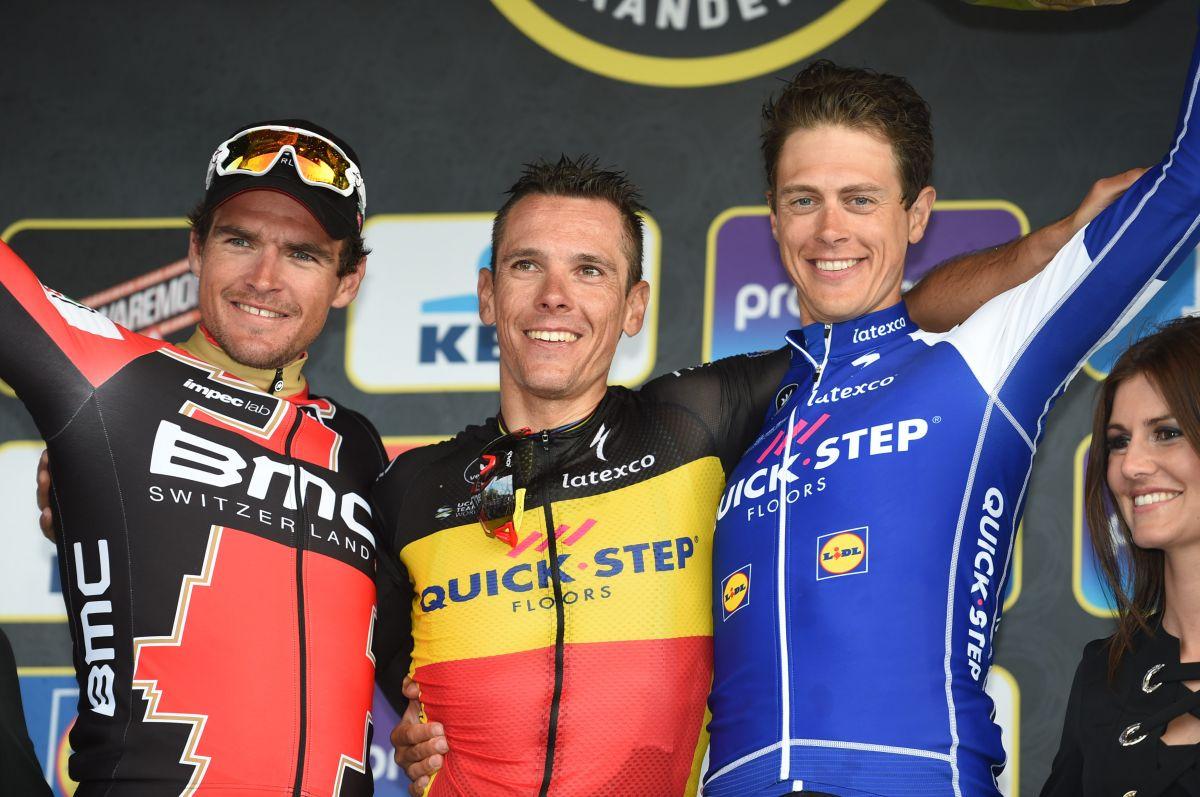 Le podium du Tour des Flandres 2017