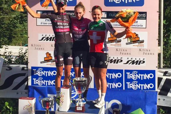 Le podium du Tour du Trentin 2017