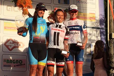 Le podium du Trophée Binda 2017