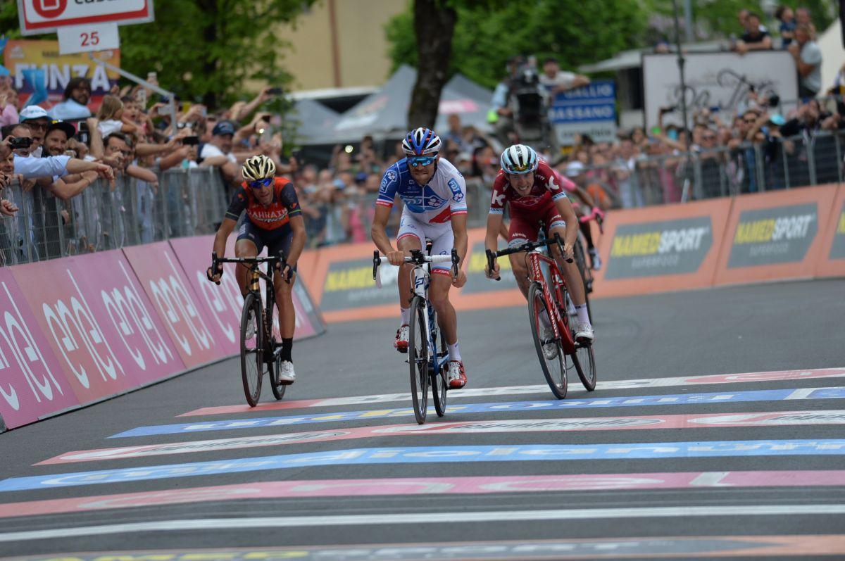 Le sprint entre les favoris sur la 20ème étape du Giro