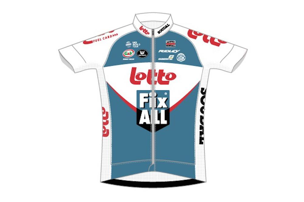 Le maillot de l'équipe Lotto-Fix All