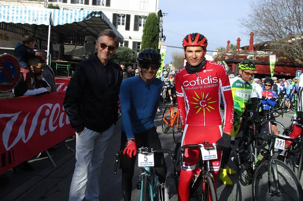 Alain Prost et Yoann Bagot au départ du Raid des Alpilles