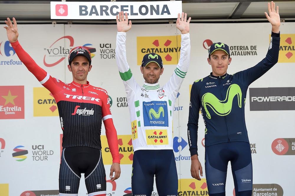 Le podium du Tour de Catalogne