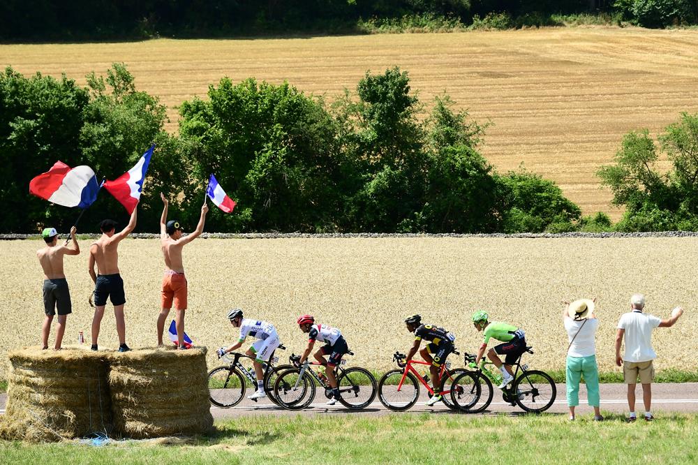 Une échappée au Tour de France