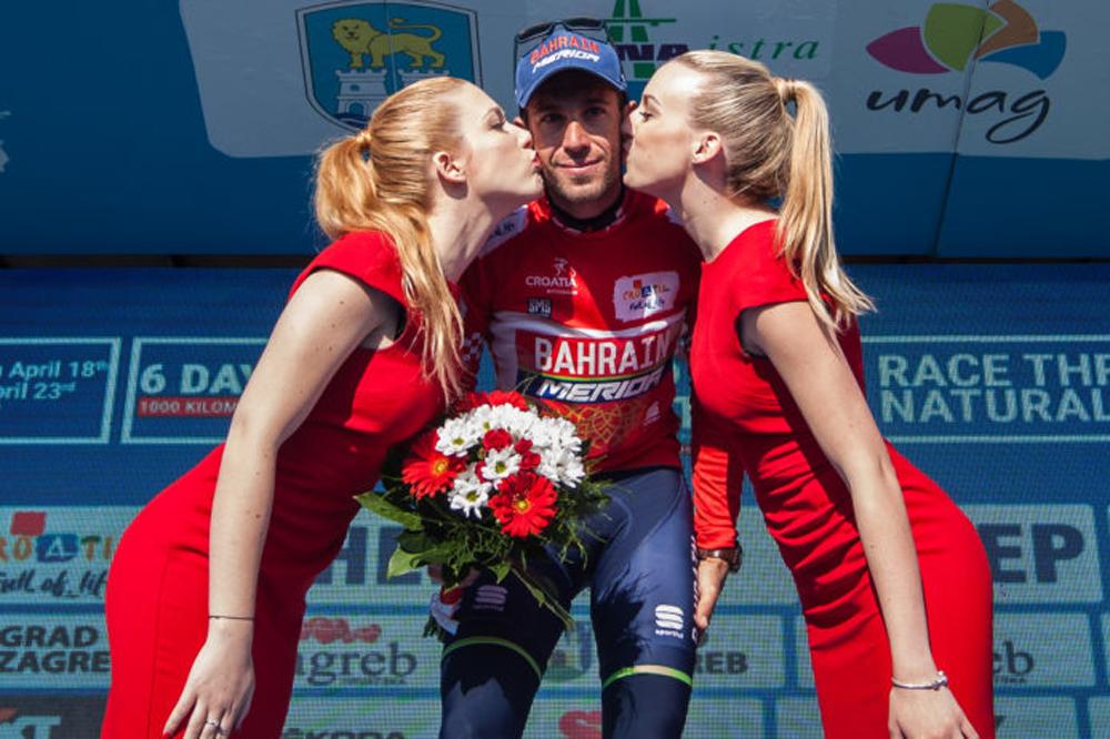 Vincenzo Nibali en rouge au Tour de Croatie