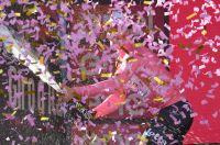 André Greipel en rose sur le podium du Giro
