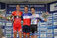 Bruno Armirail, Flavien Maurelet et Alexis Guérin sur le podium du Championnat de France
