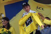 Geraint Thomas en jaune