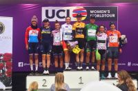 Le podium de la 1ère étape du Ladies Tour of Norway 2017