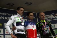 Le podium des Championnats de France de cyclo-cross 2017