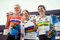 Le podium du CLM Dames des Mondiaux 2016