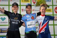 Le podium final du BeNe Ladies Tour 2017