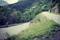 Le virage 11 de l'Alpe d'Huez
