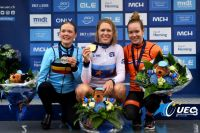 Podium des Euro' CLM Elites Dames 2017