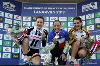 Podium du Championnat de France Dames de Cyclo-cross