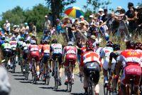 La queue de peloton du Tour de France