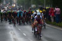 Le peloton du Tour de France sous la pluie