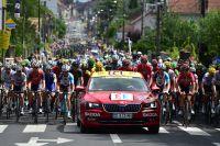 Départ d'étape sur le Tour de France