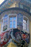 Grandes fresques peintes sur les façades dans le Val di Fassa