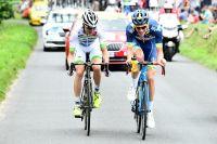 Yoann Offredo et Elie Gesbert échappés sur la route de Bergerac