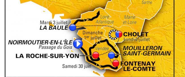 La carte du Grand Départ du Tour de France 2018