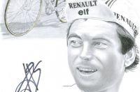 Bernard Hinault en dessin